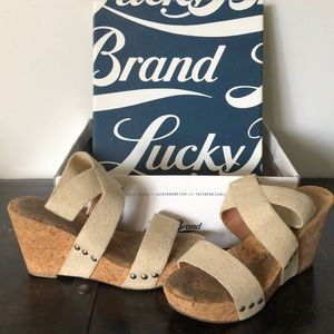 Lucky brand cork wedges